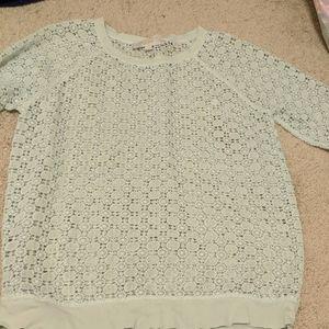 Ann Taylor Loft crochet shirt